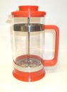 3 Cup PYREX Red Plastic French Coffee/Tea Press