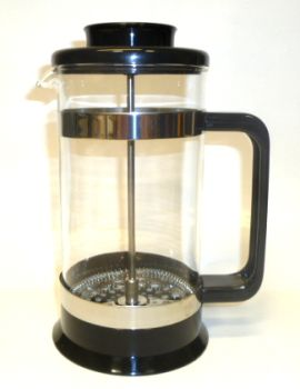 8 Cup PYREX Black Plastic French Coffee/Tea Press