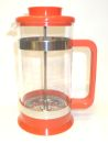 8 Cup PYREX Red Plastic French Coffee/Tea Press