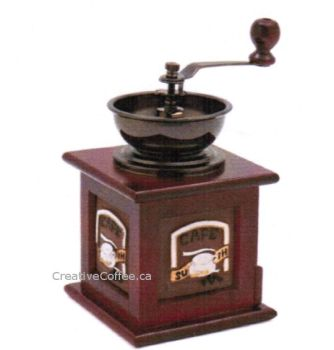 Classic Red Wooden Manual Coffee Grinder HOT DEAL