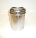 Stainless Steel 8oz Small Coffee Storage Jar
