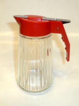 Valira RED 6 oz Glass  Milk Dispenser