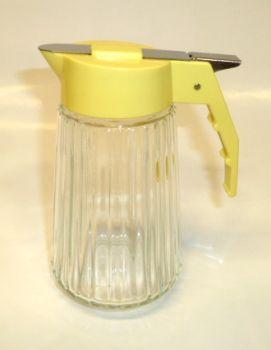 Valira 6 oz Glass Mik Dispenser YELLOW