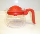 Pyrex 2 Cups Coffee / Tea Glass Pot - Red