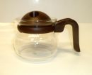 Pyrex 2 Cups Coffee / Tea Glass Pot - Brown