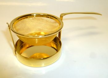 5 cms Swinging Gold Tea Infuser with Caddy