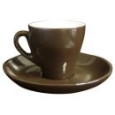 Pear Shape Dark Brown Espresso Cups - Set of 6