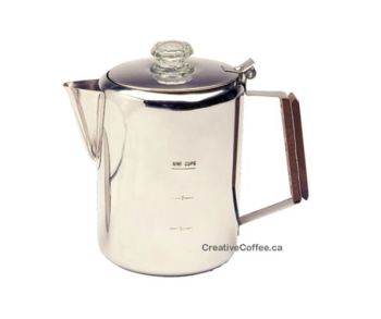 Percolator 6 Cups Stainless Steel Coffee Pot