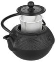 0.75 lts Hobnail Cast Iron Black Tea Pot