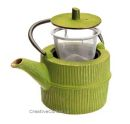 0.75 Lts Hobnail Cast Iron Green Tea Pot