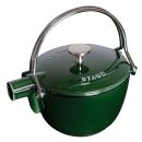 Staub 1 Qrt Basil Green Cast Iron Tea Pot