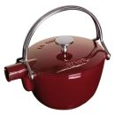 Staub 1 Qrt Grenadine Red Cast Iron Tea Pot