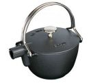 Staub 1 Qrt Matte Black Cast Iron Tea Pot