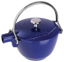 Staub 1 Qrt Dark Blue Cast Iron Tea Pot
