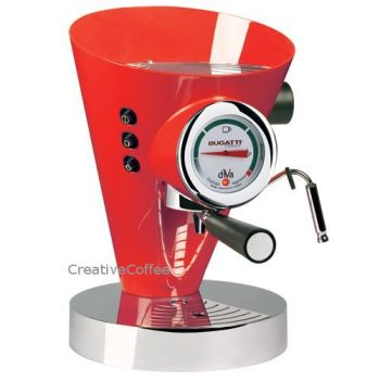Bugatti Diva Espresso Red Coffee Machine