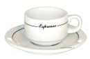 Straght Shape Black Line Espresso Cups - Set of 6