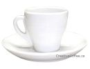 Pear Shape White Espresso Cups - Set of 6