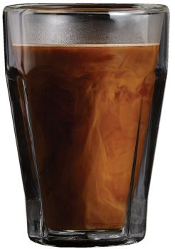 Barista Vintage 11 oz Macchiato Double Wall Glass Cups Set of 2