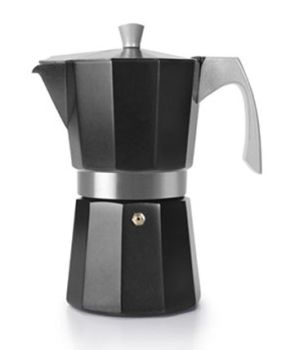 Ibili 6 Cups - 300ml Evva Black Espresso Maker HOT DEAL