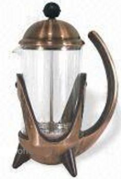 8 Cup PYREX Copper French Coffee/Tea Press HOT DEAL