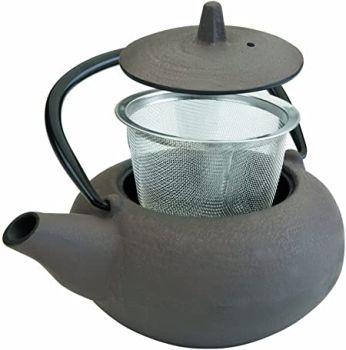 0.40 lts Hobnail Cast Iron Black Tea Pot