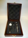 3 Piece Golf Theme Wine Gift Set in Mahogany Wood Box  HOT DEAL