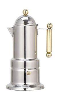 VEV Vigano Kontessa Tubo GOLD 4 Cups Espresso Maker