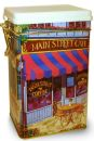 "Decorative ""MAIN STREET CAFE"" Storage Tin Can 500 grams"