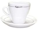 Pear Shape Black Line Cappuccino Cups Set of 6
