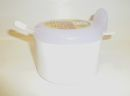 Juypal 400ml Plastic Sugar Bowl with Spoon White