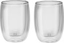 Zwilling JA Henkels Sorrento 6.8oz CAPPUCCINO Double Wall Glass Cups Set of 2