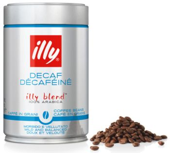 illy WHOLE BEANS ESPRESSO DECAF Medium Roast Coffee 1/2 Lbs (250gr)