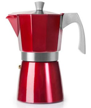 Ibili 12 Cups - 775ml Evva Red Espresso Maker