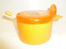 Juypal 400ml Plastic Sugar Bowl with Spoon Orange
