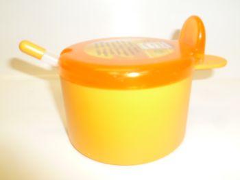 Juypal 400ml Plastic Sugar Bowl with Spoon Orange