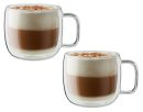 Zwilling JA Henkels Sorrento 15oz CAPPUCCINO Double Wall Glass Cups Set of 2