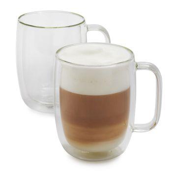 Zwilling JA Henkels Sorrento 12 oz LATTE Double Wall Glass Cups Set of 2