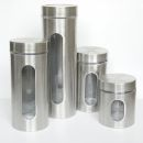 4 pcs Cannister Storage Jars Set of 4