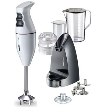 Bamix Classic Selection White Hand Mixer Blender 10 Pcs Set