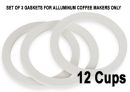 Bialetti 12 Cups Replacement Gaskets for Aluminium Coffee Makers