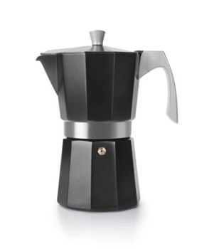 Ibili 3 Cups - 200ml Evva Black Espresso Maker