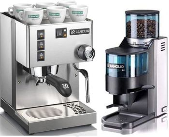 Rancilio Silvia M and Rocky Doser Grinder Combo + FREE COFFEE