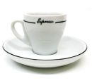 Pear Shape Black Line Espresso Cups - Set of 6