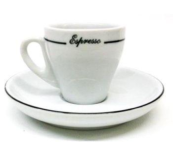 Pear Shape Black Line Espresso Cups - Set of 6