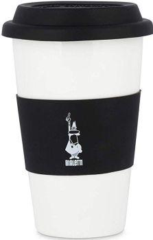 Bialetti 10 oz - 300 ml Porcelain Coffee Cup Black