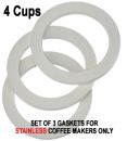 Replacement 4 Cups Gaskets for STAINLESS Coffee Makers
