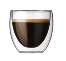 Barista 3.3 oz Espresso Double Wall Glass Cups Set of 2