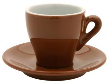 Nuova Point Brown Cappucino Cups Set 6