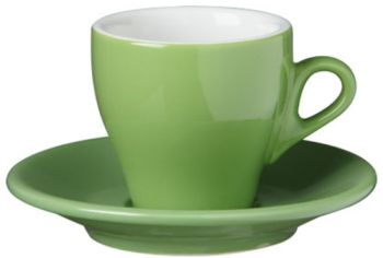 Nuova Point Green Cappuccino Cups Set 6