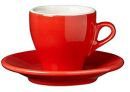 Nuova Point Red Cappuccino Cups Set 6